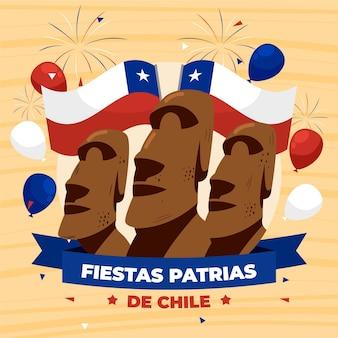 Internationaler tag von chile