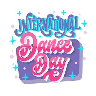 Internationaler tanztag schriftzug