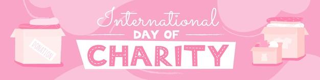Internationaler wohltätigkeitstag rosa und weiß
