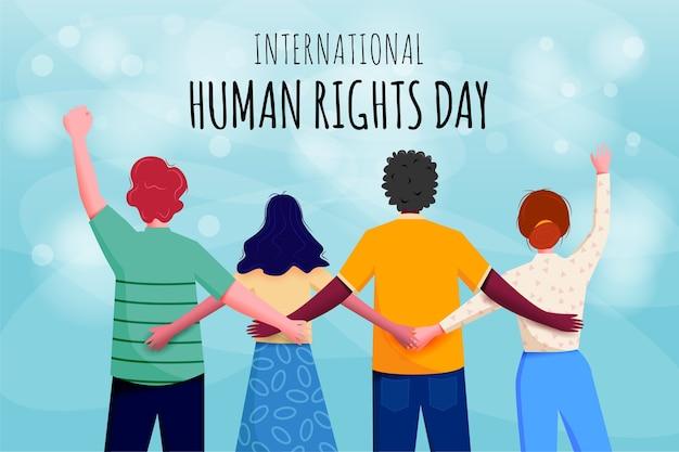 Internationales banner zum tag der menschenrechte