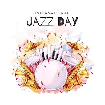Internationales jazz day design