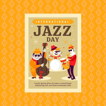 Internationales jazz day flyer vorlagenkonzept