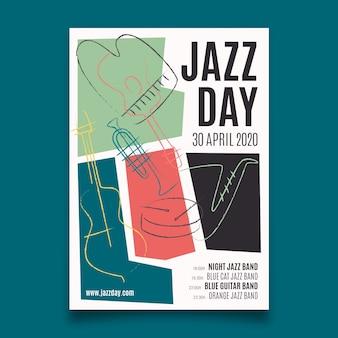 Internationales jazz-tagesplakat