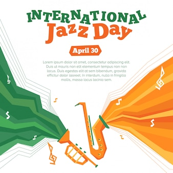 Internationales jazz-tagsplakat