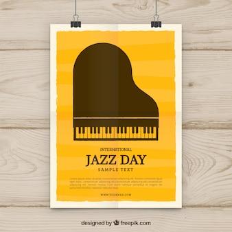 Internationales jazztagesplakat im flachen design