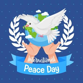Internationales logo oder banner zum friedenstag