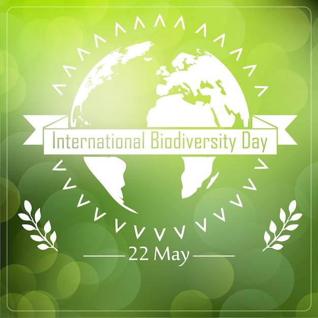 Internationales poster zum thema biodiversität