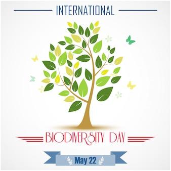 Internationales poster zur biodiversität