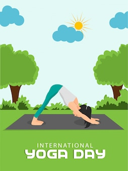 Internationales yoga-tagesplakat