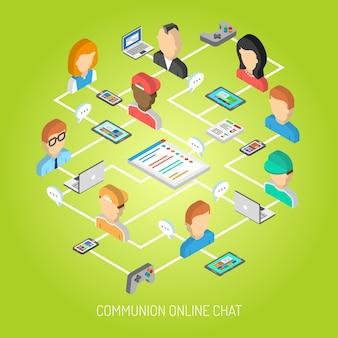 Internet-chat-konzept Kostenlosen Vektoren