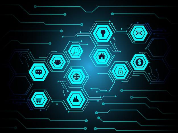 Internet der dinge cyber-schaltungstechnologie