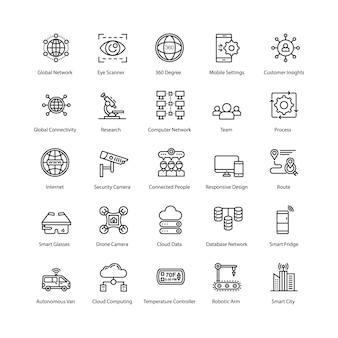 Internet der dinge icons pack