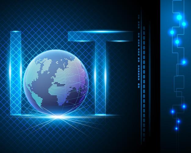 Internet der dinge (iot) mit netzwerk