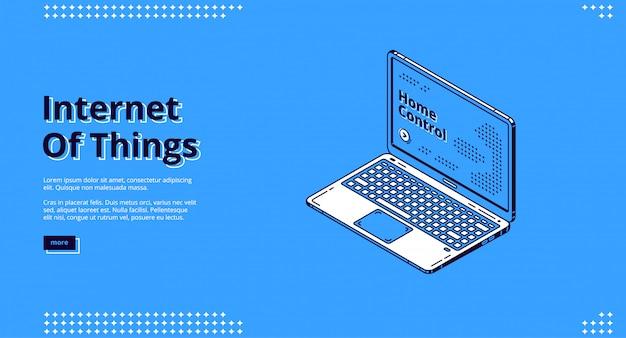 Internet der dinge isometrisches web-banner