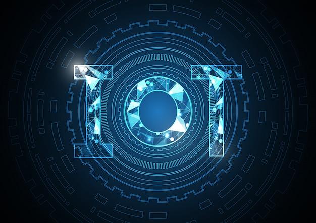 Internet der dinge technologie abstrakten kreis hintergrund