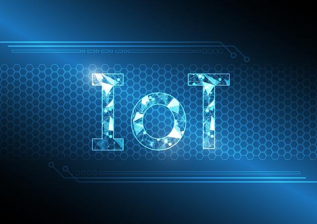 Internet der dinge technologie abstrakten sechseckigen hintergrund