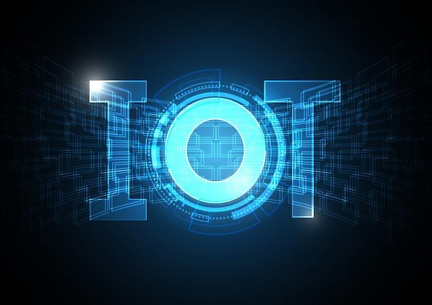 Internet der dinge technologie kreis abstrakten hintergrund