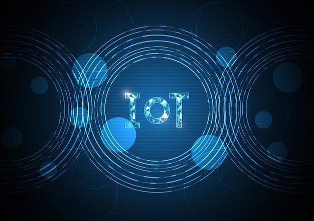 Internet des sachentechnologiezusammenfassungs-kreishintergrundes