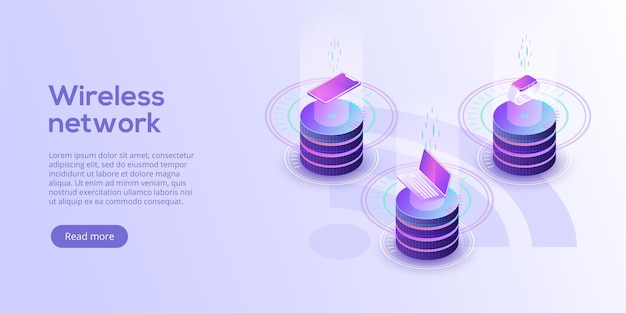 Internet-of-things-layout iot-online-synchronisation und -verbindung über smartphone-funktechnologie