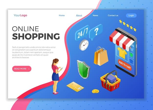 Internet-online-shopping-landingpage-vorlage