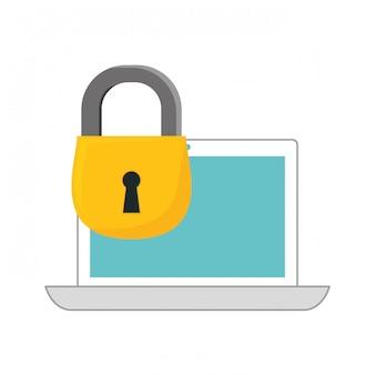 Internet-sicherheits-verwandte symbole bild