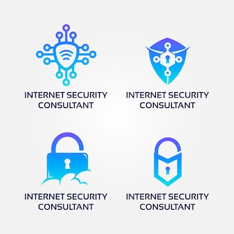 Internet-sicherheitsberater logo set