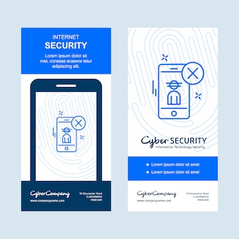 Internet-sicherheitsdesign mit logo und typografievektor
