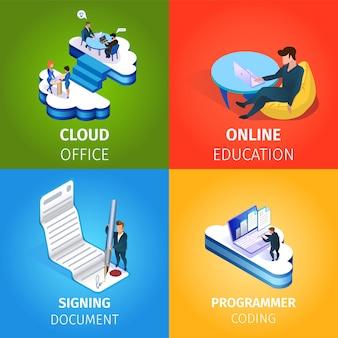 Internet-technologien im menschlichen leben und business.