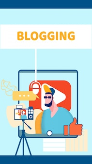 Internet video blog web banner
