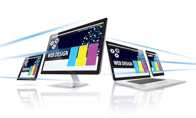 Internet-webdesign-konzept