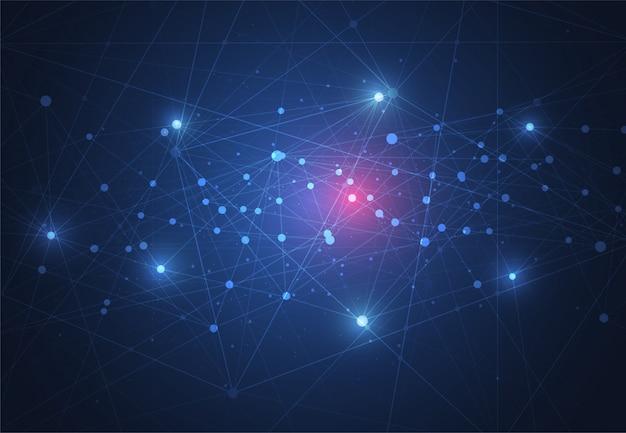 Internetverbindung, abstrakter sinn für wissenschaft und technologie
