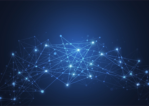 Internetverbindung, abstrakter sinn für wissenschaft
