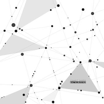 Internetverbindung geometrische formen