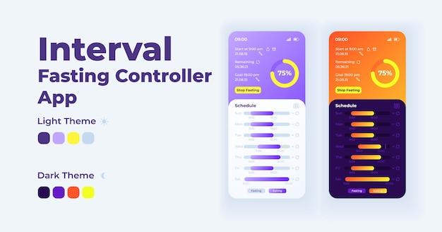 Intervall fasten controller smartphone-schnittstelle vorlage gesetzt