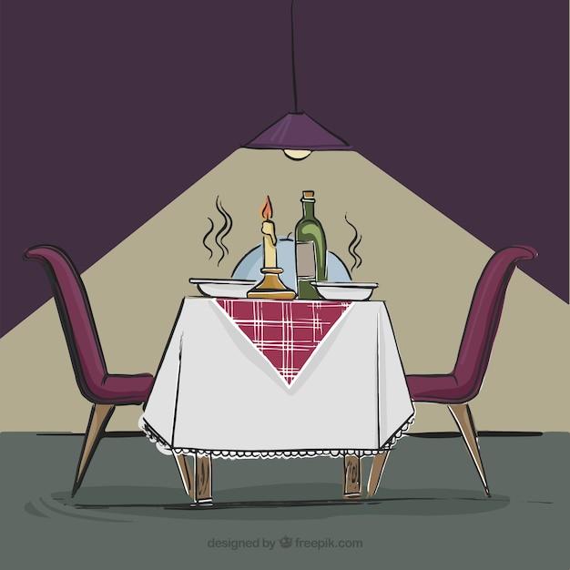 Intimes abendessen in einem restaurant