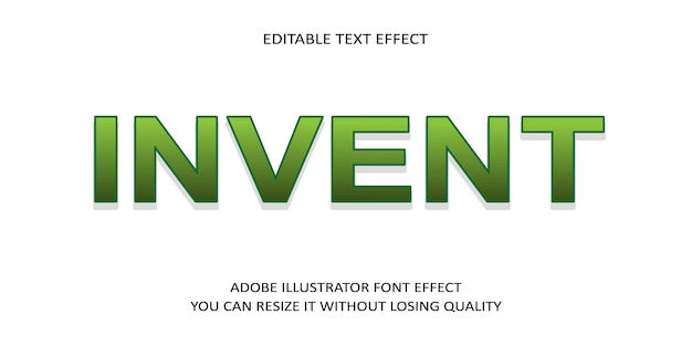Invent simple text effect-schriftart