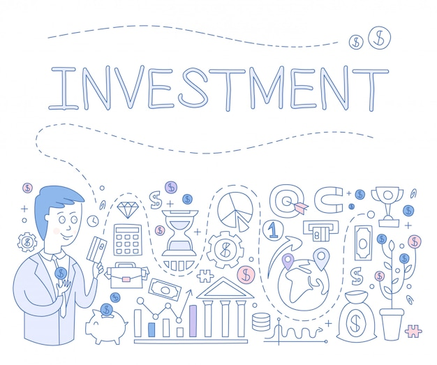 Investitionsinfografiken. illustration