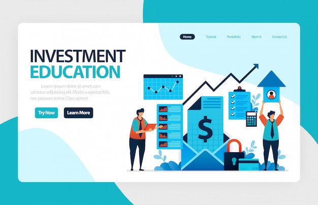 Investment education landing page