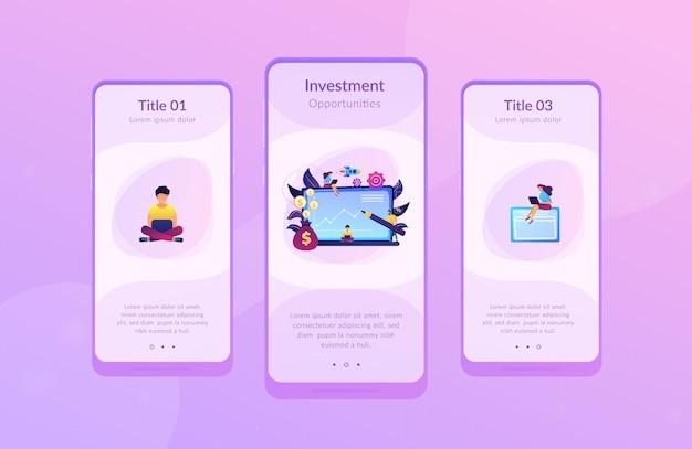 Investment fund app schnittstellenvorlage.