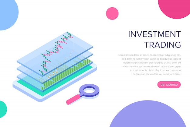 Investment trading landing page