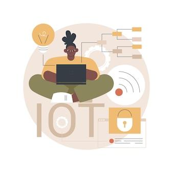 Iot-entwicklungsillustration