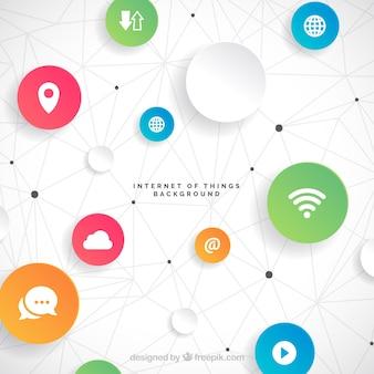 Iot hintergrund design