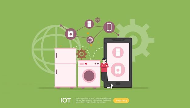 Iot-smart house-überwachungskonzept