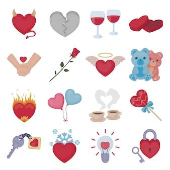 Iove of heart lokalisierte illustration