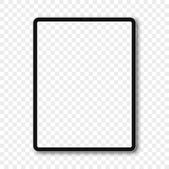 Ipad-modell mit leerem bildschirm und schatten