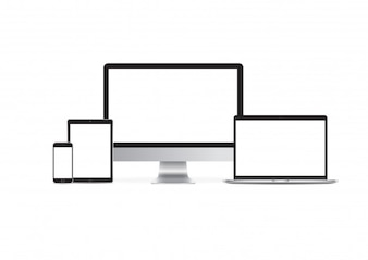 Iphone ipad imac-Modell-gesetzter Vektor