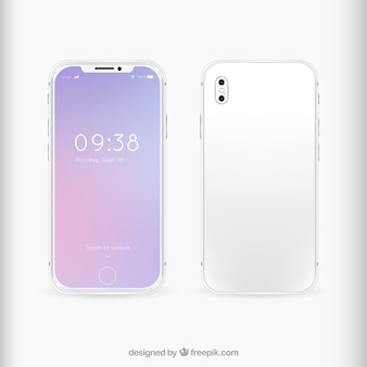 Iphone mit abstraktem hintergrund