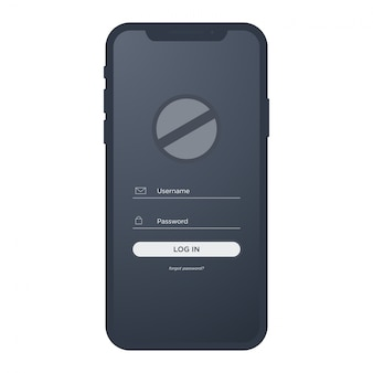 Iphone x mobile mit login-ui-kit