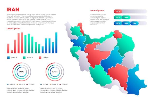 Iran karte infografiken