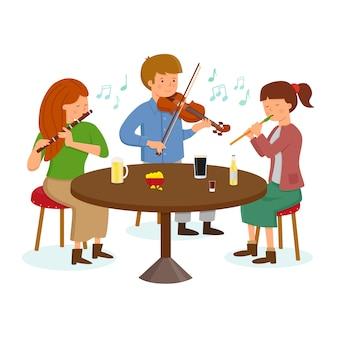 Irische volksmusikgruppe